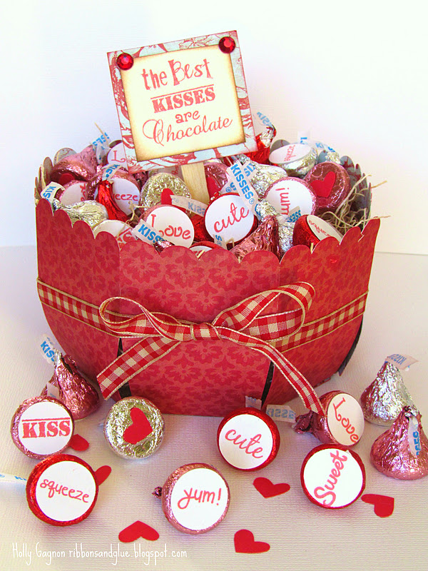 Chocolate Kiss Labels