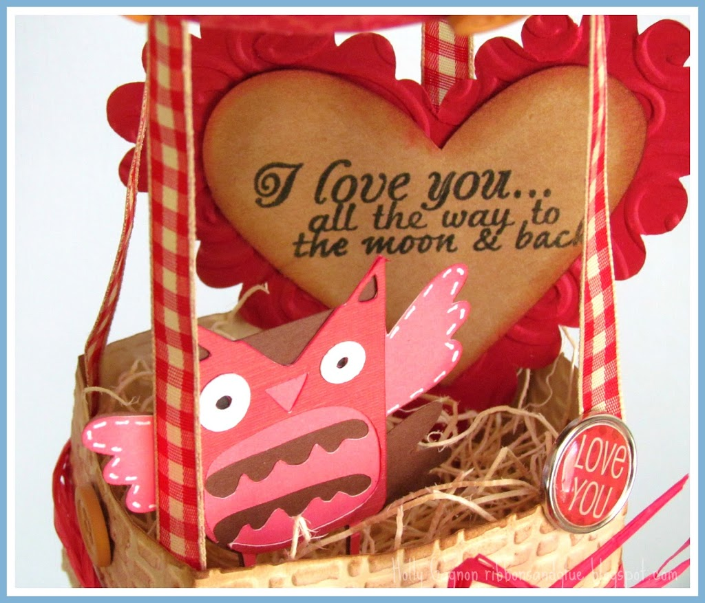 Valentine's Hot Air Balloon with Owl