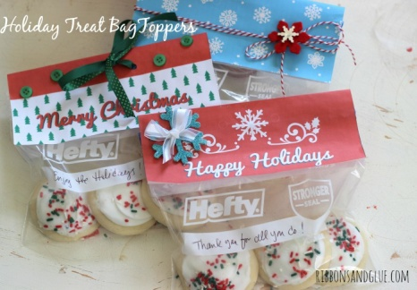 Holiday Treat Bag Toppers