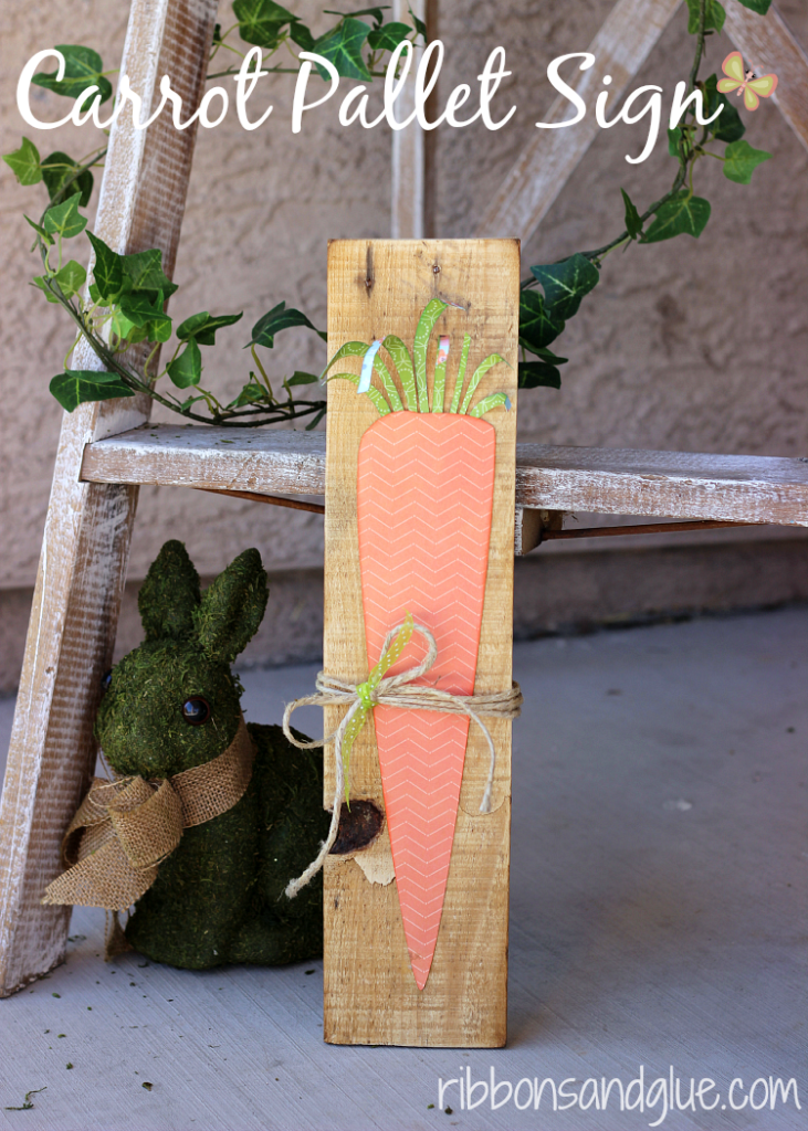 Carrot Pallet Sign Ribbons amp Glue
