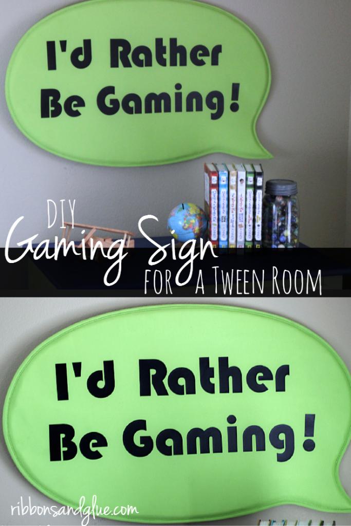 DIY Rather Be Gaming Sign