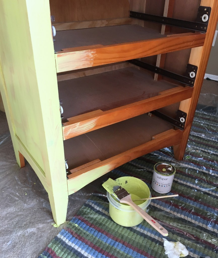 Easy Dresser Makeover using chalk paint.. Kid Boy Room updated to Tween Room by painting furniture with chalk paint.