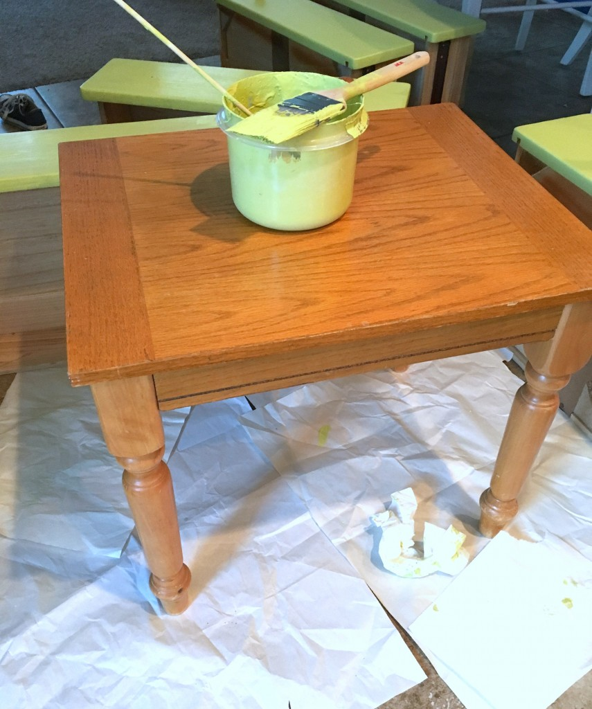 End Table Makeover with Chalk Paint
