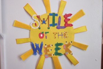 Smile of the Week sign made with Cricut perfect for classrooms!