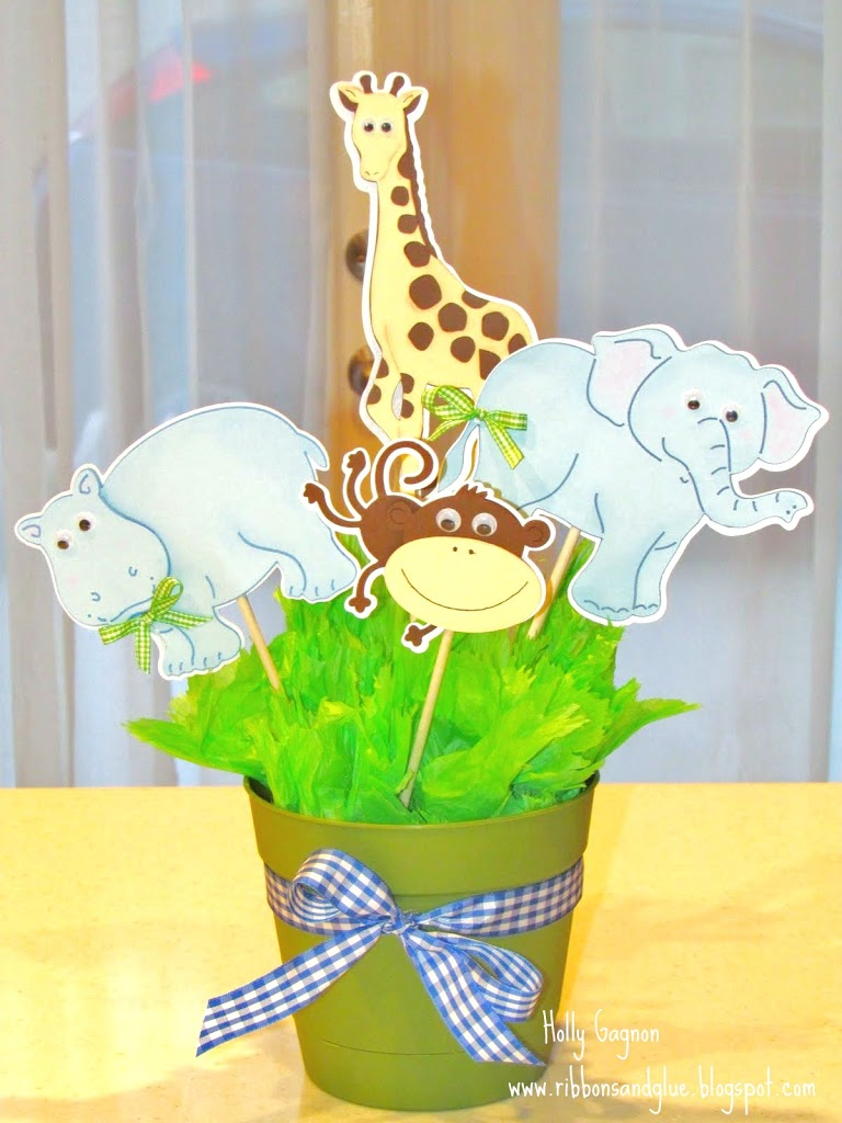 Jungle Animal Centerpiece for baby Shower