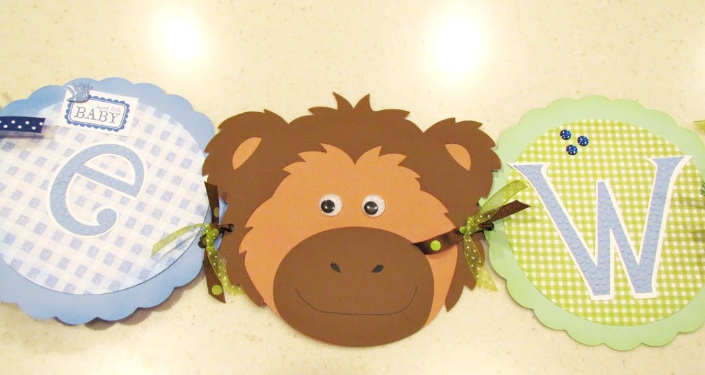 Jungle Baby Shower Banner Moneky