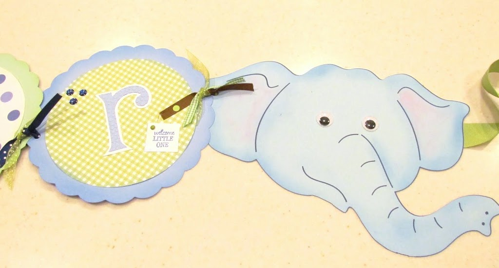 Jungle Baby  Shower Banner Elephant