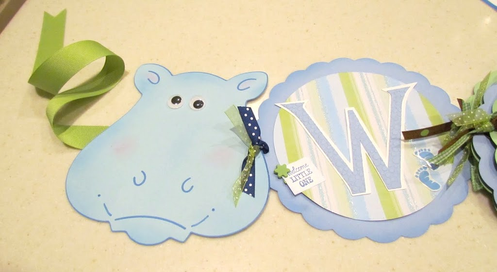 Jungle Baby Banner Hippo