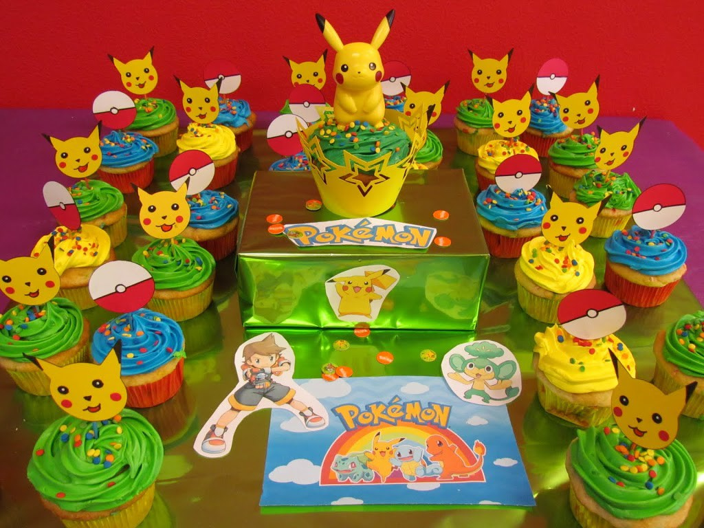 Pokemon Cupcake Toppers made with Cricut