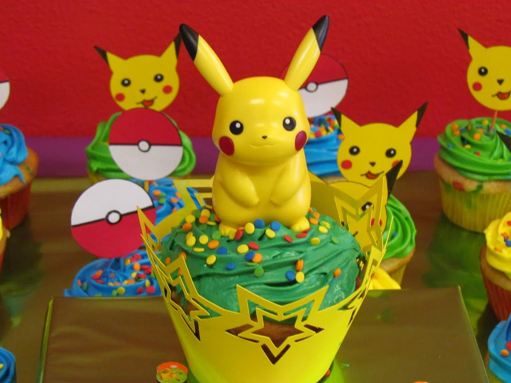 Happy Meal Pikachu Cupcake Topper. Cupcake liner made with Cricut