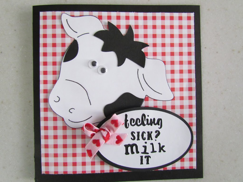 Cow Card made with Cricut