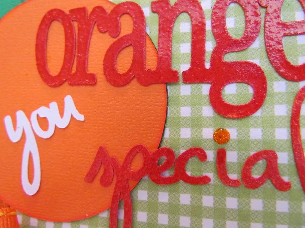 Orange Embossing Powder