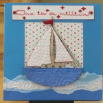 Sailboat Card made with Cricut Life's a Beach