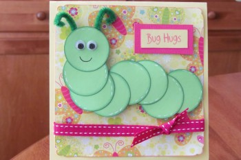 Bugs Hugs Caterpillar Card
