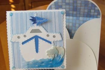 Sailboat Card made with Cricut