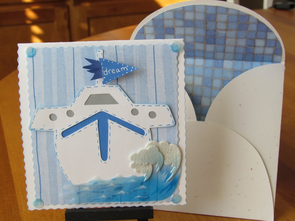 Sailboat Card made with Cricut