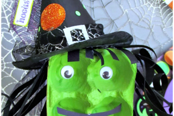 Egg Carton Halloween Witch