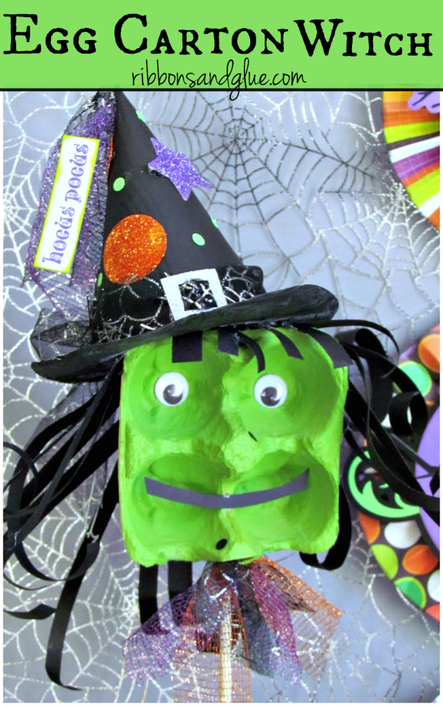 Making a Halloween Withc out of an Egg Carton is a creative Halloween activity perfect for a classroom party.