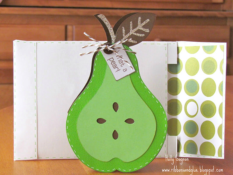 Pear Card made with Cricut Preserves