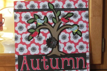 12 x 12 personalized shadow box for Autumn