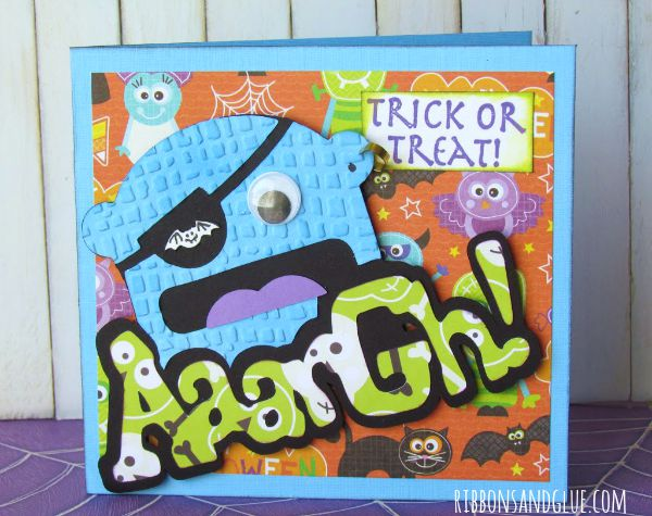 Pirate Halloween Card made with Cricut