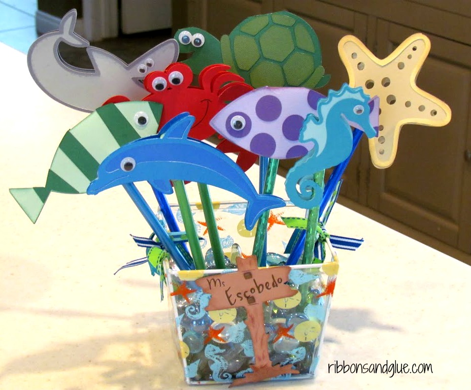 Sea Creature Pencil Toppers perfect Teach Gift for any Ocean Theme Classroom