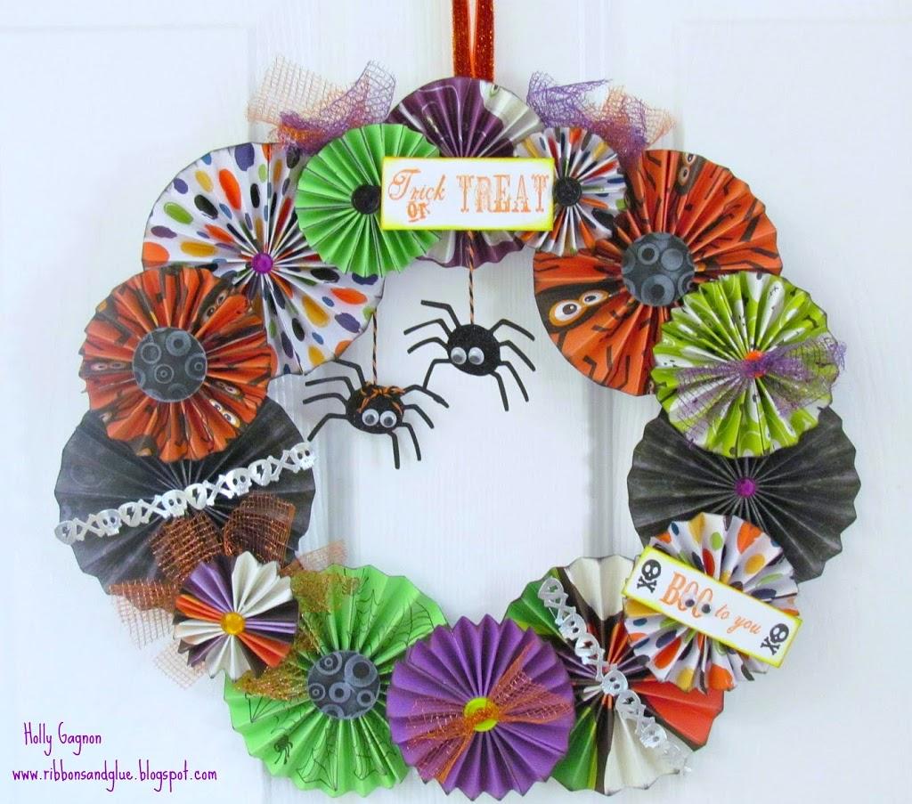 Halloween Rosette Wreath