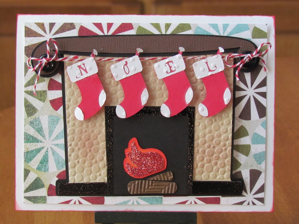 Noel Stocking Card made with Cricut