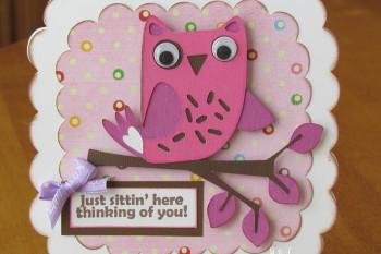 Hoo's Birthday Owl Card made with Cricut