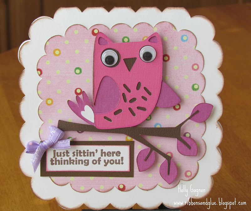 Hoo's Birthday Owl  Card made with Cricut