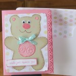 Teddy Bear Card made with Cricut