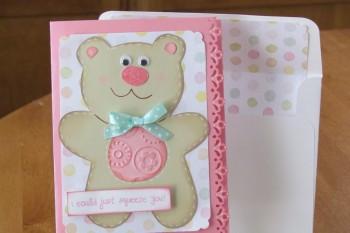 Teddy Bear Card made with Cricut