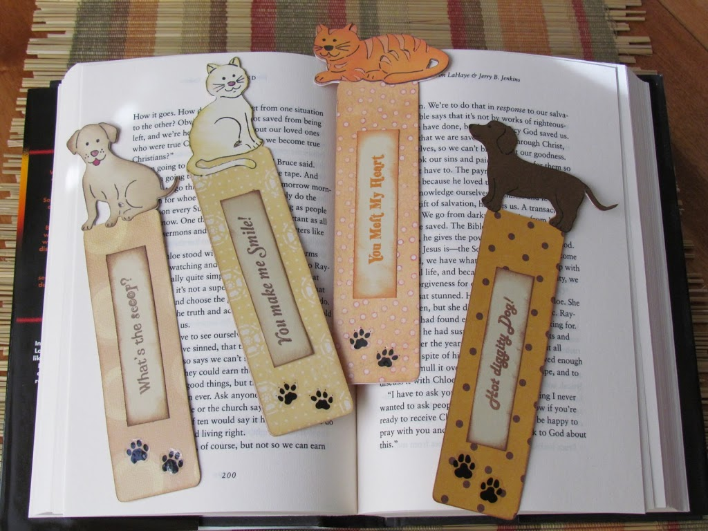 Pet Loverbookmarks made with Cricut