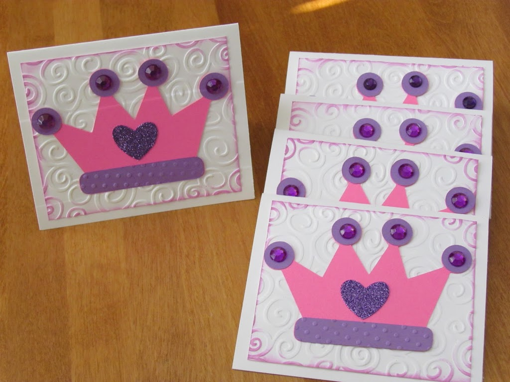 Princess Crown Birthday Invitations
