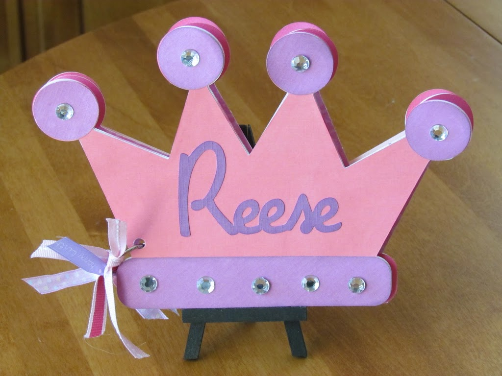 Princess Birthday Card Book made with Cricut