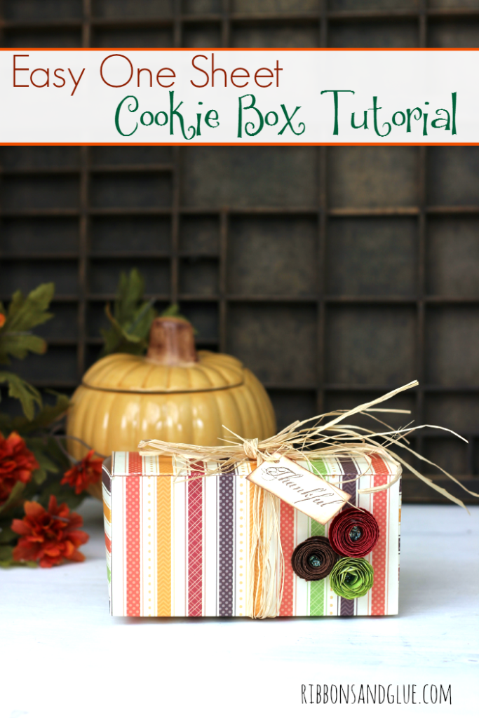 How to make a One Sheet Cookie Box using one sheet of Scrapbooking paper and a score board!