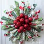 Ornament Paper Cone Wreath #christmas