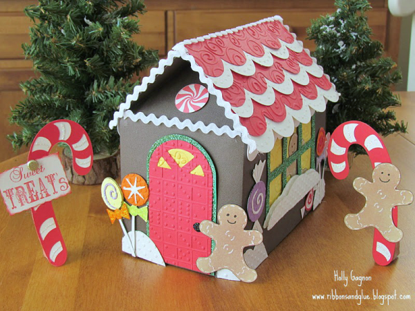 Paper Gingerbread House made with Cricut