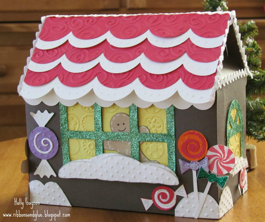 Paper Gingerbread House made with Cricut die cutting machine