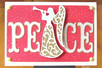Peace Angel Card made with Cricut.