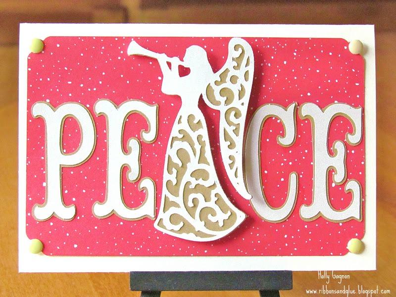 Peace Angel Card made with Cricut.