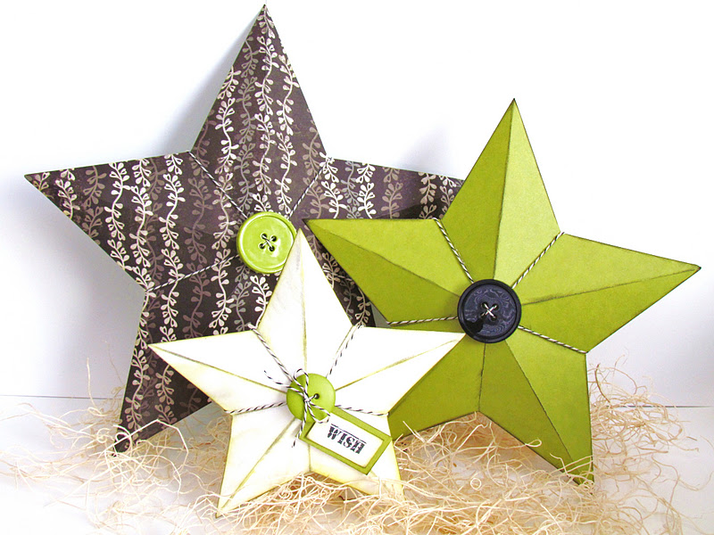 3D Stars made with Cricut
