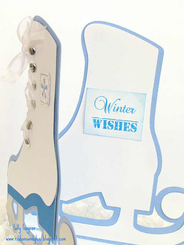 Ice Skate Card Made with Cricut