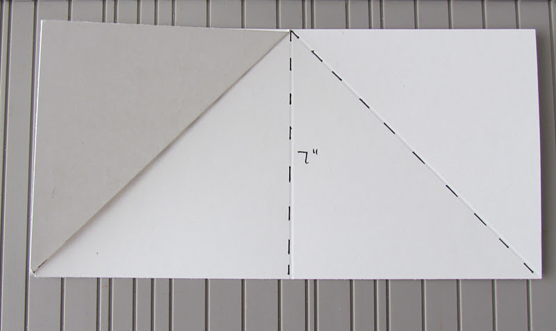 Triangular Fold Card