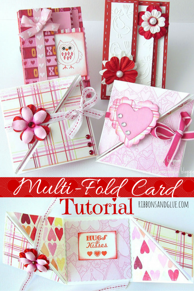 How to make Multi-Fold Valentines Cards. Follow this simple picture tutorial to see how to make Accordion Fold and Triangular Tri-Fold cards. You card making will never be the same!
