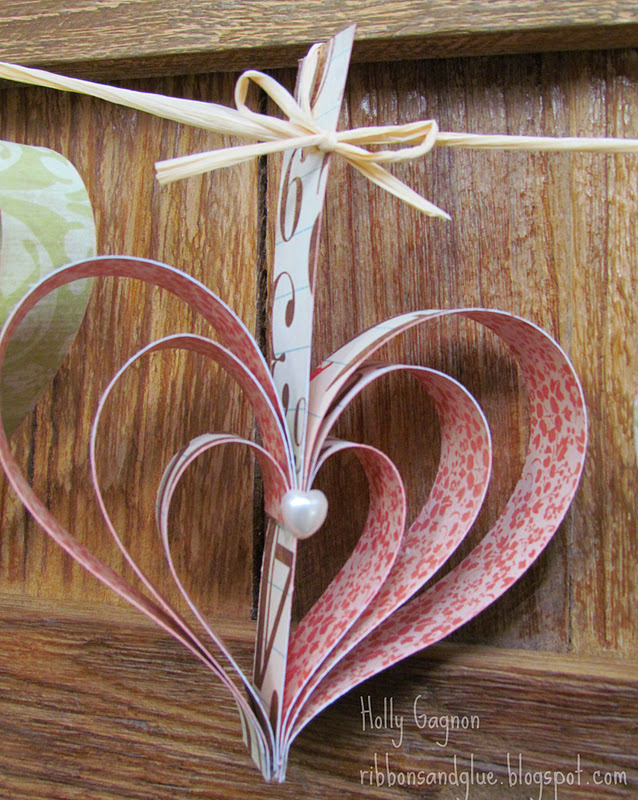 Easy Heart Garland.  Love the Rustic Look!