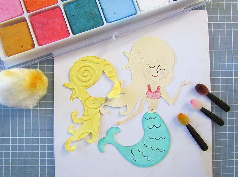 Mermaid enhanced with chalking