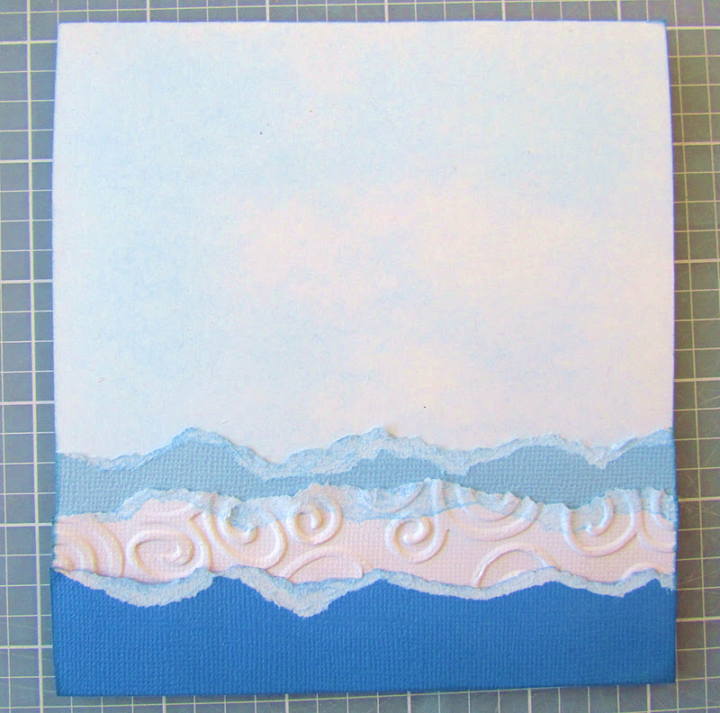 Paper Tearing and Chalking Tutorial to make waves