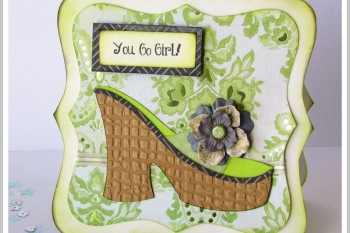 Shoe Card made with Cricut