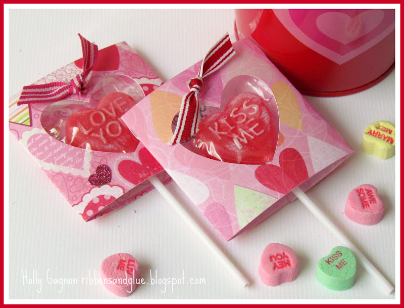 DIY Lollipop wraps perfect for Valentine's Day